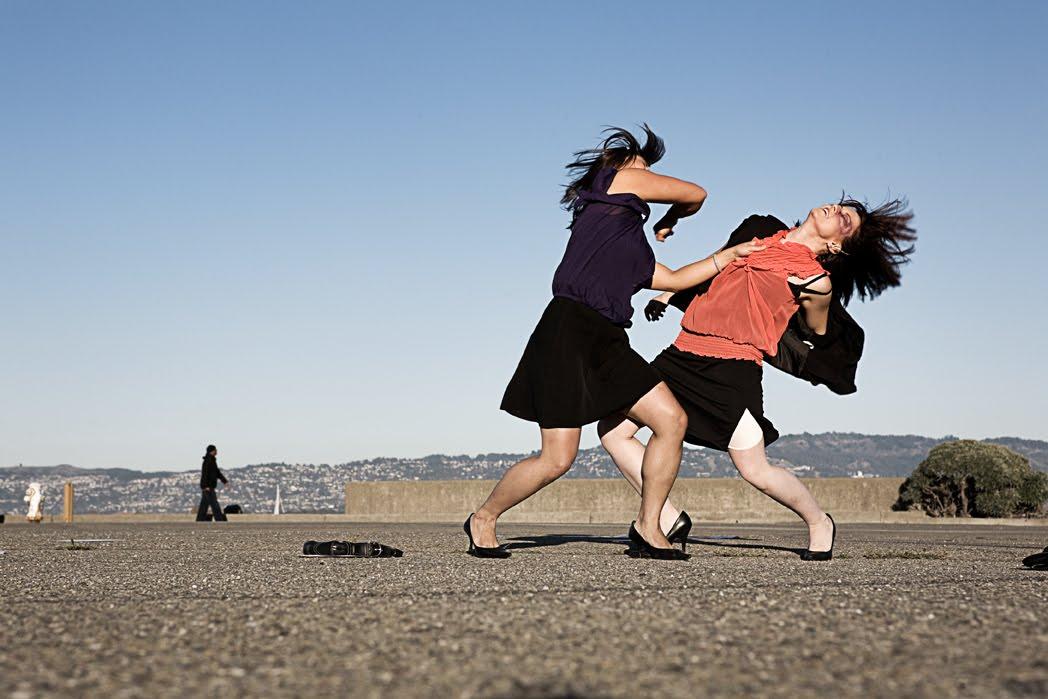 Woman cat fight
